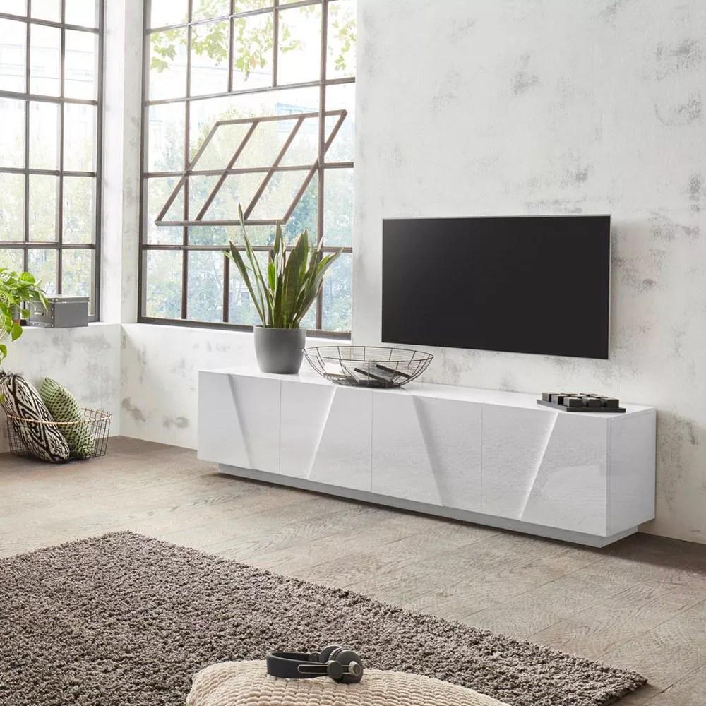 Al 3 settembre 2021 13:35. Mobile Porta Tv 4 Ante 2 Vani Design Moderno Bianco Ping Low L