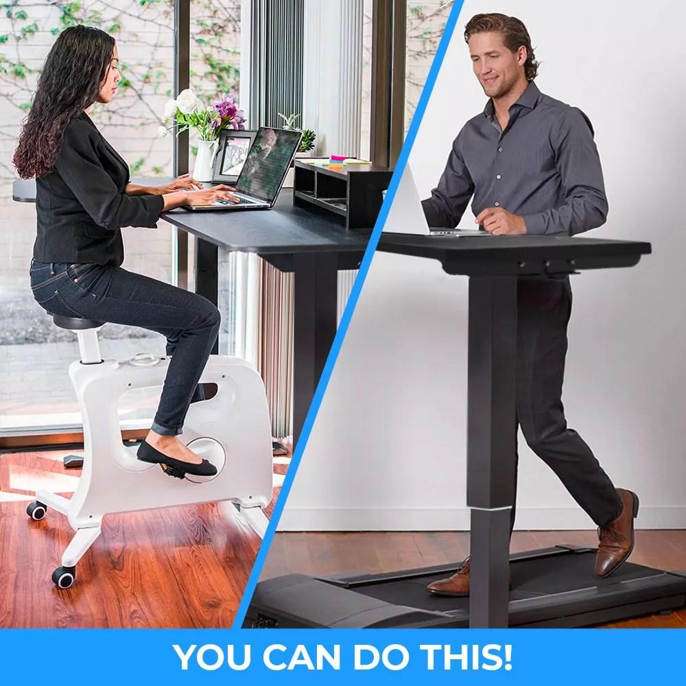 Una scrivania, una sedia, uno scaffale per organizzare documenti e. Standwalk 120x60 Scrivania Altezza Regolabile Elettrica Design Per Ufficio E Studio