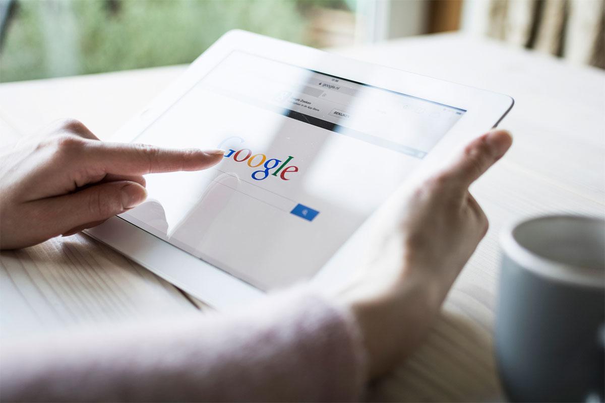 Hjem Google på tablet