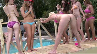 Having college chicks at the pool party Preview Image