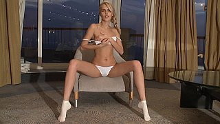 Skinny Sasha Blonde showing pussy Preview Image