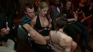 Young Sensi Pearl gets_tied up and fucked in_public Preview Image
