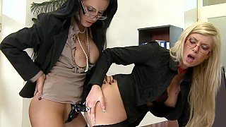 Office girl fucking each other in the ass Preview Image