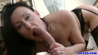 Euro mature in lingerie_gets cum on ass after_sex Preview Image