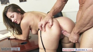 Hot office babe Dani Daniels riding cock Preview Image