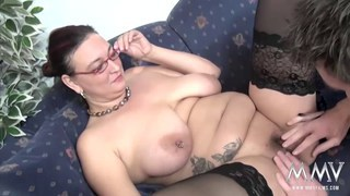 Fucking a chubby MILF with glasses Preview Image