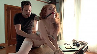 He Ties her down_tight and_proceeds on fucking her pussy Preview Image