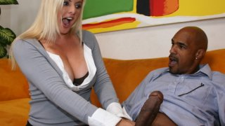 Busty big ass blonde MILF starves for big cock hardcore fuck Preview Image