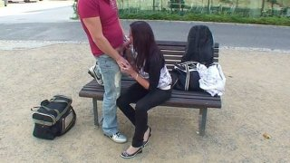 Public fuck_video with cute teen Preview Image