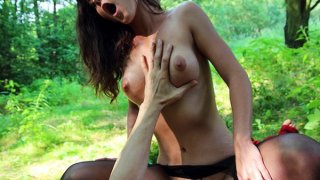 Teen slut in pantyhose gets banged in public sex video Preview Image