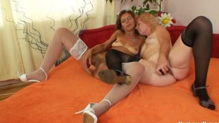 Unshaven amateur-mom gets toyed by perverse blond dame Preview Image