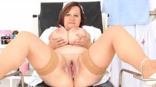 Brunette lady practical_nurse_teases in uniforms Preview Image