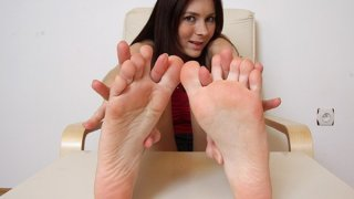 Beautiful brunette Kattie Gold sexy feet and legs Preview Image