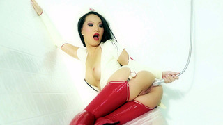 Asa_Akira_wearing_nurse_outfit_having_an_anal_douche Preview Image