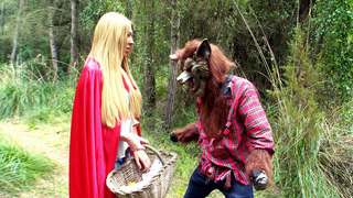 Lexi Lowe as a Little Red Riding Hood met big bad wolf Preview Image