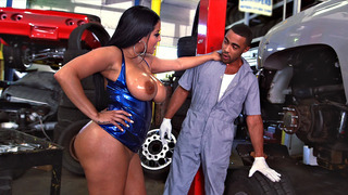 Kiara Mia seducing the mechanic and sucking his monster dick Preview Image