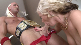 Busty MILF Kate Frost sucks wrestler's big hard_dong Preview Image
