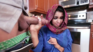 Shy girl from the Middle East Ada Sanchez drops to her knees and suck his cock Preview Image