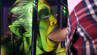 Horny alien Tiffany Doll and the collector Eva Parcker sucking Danny's shlong Preview Image