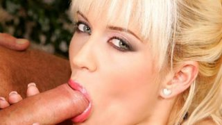 Blonde engages in lusty oral exchange Preview Image