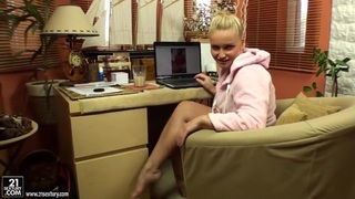Kathia Nobili watches how girl masturbates via webcam Preview Image