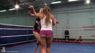 Angel Long and Chaty Heaven in lesbo wrestling Preview Image