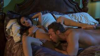 Asian beauty Kaylani Lei gets her clean pussy banged in the dark Preview Image