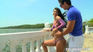Sexy Diana go  to the beach with two strangers, which definitly want to fuck her Preview Image
