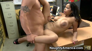 Derrick Pierce and Havana Ginger have office fuck Preview Image