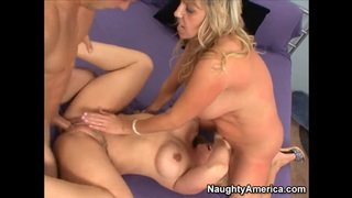 Two displeased pornstars banging and_pleasing this guy Preview Image