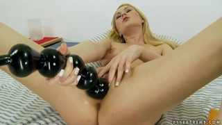 Antonya playing with a huge sex toys and getting satisfied Preview Image