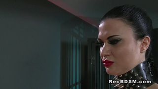 Busty Mistress wanking_dick in dungeon breasts_cumshot Preview Image