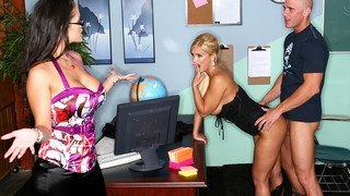 Carmella Bing & Shyla Stylez & Johnny Sins in My First Sex Teacher Preview Image