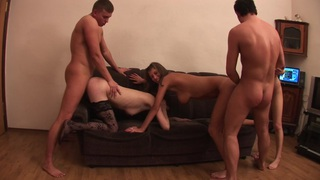 Aleska Diamond & Anett & Lusya & Nastia & Shantel & Sili in naked girls party hard and get their cunts fucked Preview Image