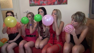 Charlotte Reed & Angel Piaff & Corrine & Eveline & Ilsa in hot college sex with a group of horny students Preview Image