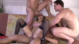 Dominica in gang banging porn featuring dominika and horny dudes Preview Image