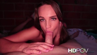 HD POV Brunette College rubs Cock against Tight Pussy Preview Image