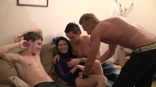 Elizabeth & Kamila & Marya & Sabina Gruda & Tanata in sexy chick gets fucked in a real college sex video Preview Image