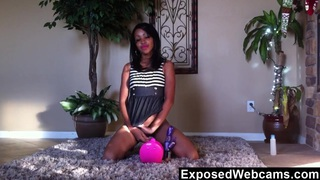 Petite Ebony Teen Orgasming On The Floor Preview Image