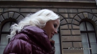Euro blonde amateur flashing big titties in public Preview Image