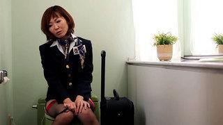 Horny Flight Attendants Bathroom Break Preview Image