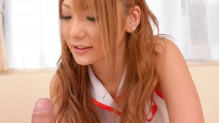 Cute Nurse Sena Aragaki gives her patient a total physical that leaves him_blowing hard Preview Image