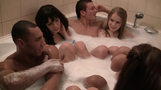 Anika & Mancy & Marika & Marya in black dude enjoys being a part of a sex party Preview Image
