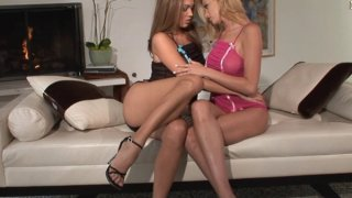 Gorgeous lesbians are_having_passionate sex on the couch Preview Image
