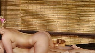 Blonde masseuse gives erotic nuru massage and gets fucked Preview Image