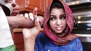 Sexy Arab Teen Ada Does What The Man of the House Says Preview Image
