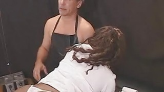 Hot Black Chick Assistant to Psycho BDSM Preview Image