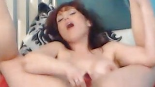 Horny Busty Chick Plays with Huge Dildo Preview Image