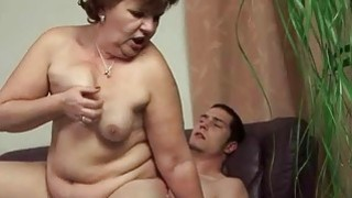 Fat granny and her young boyfriend enjoying sex Preview Image