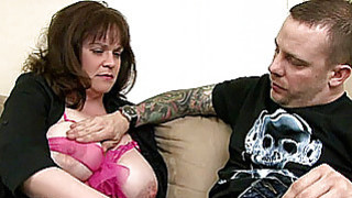 Busty amateur Milf sucks and fucks a young dick Preview Image